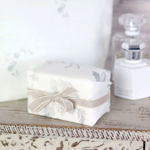 Fabric-covered French Soap - Adelaine French Grey