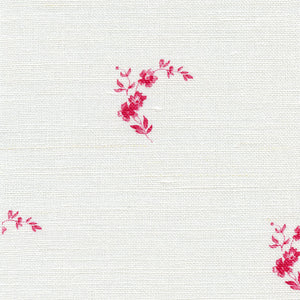 Amelie Linen Fabric - French Raspberry - Meg Morton