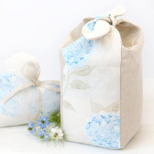 Hydrangea Lavender Scented Tie Top Doorstop - Paris Blue - Meg Morton