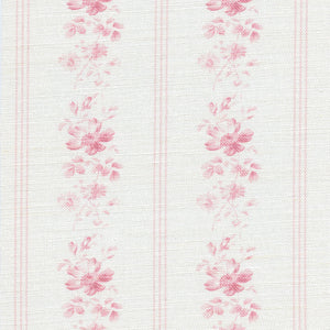 Brocante Stripe Linen Fabric - Cheverny Pink - Meg Morton