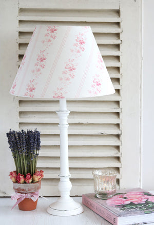 Brocante Stripe Lampshade - Cheverny Pink - Meg Morton
