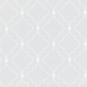 Chalbury Fabric - White On Pale Grey - Meg Morton