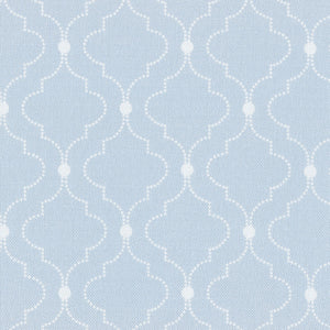 Chalbury Fabric - White On Sky - Meg Morton