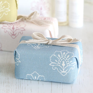 Fabric-covered French Soap - Jhansi Country Blue - Meg Morton