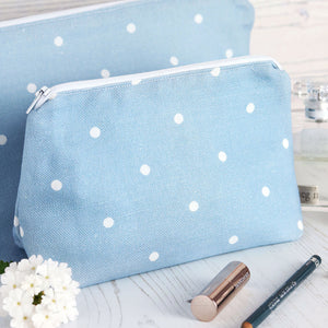 Country Dots Deep Summer Sky - Make Up Bag - Meg Morton