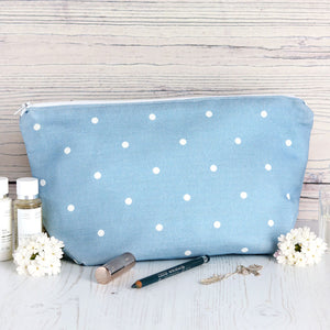 County Dots Wash Bag - Deep Summer Sky - Meg Morton
