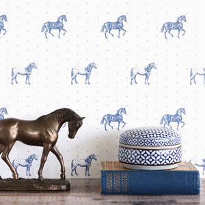 Country Horses Wallpaper- Blue Roan - Meg Morton