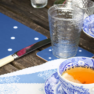 Country Dot Coasters - Durlston Blue - Meg Morton