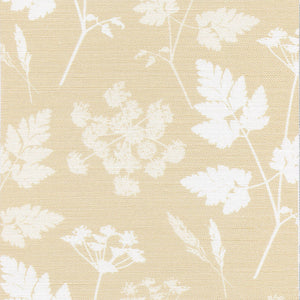 Summer Lane Cow Parsley Linen Fabric -Harvest