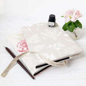 Cow Parsley Fabric Covered Notebook - Meg Morton