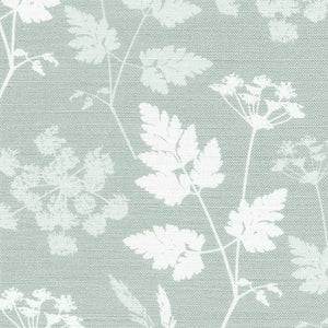 Cow Parsley Linen Fabric -River Mist - Meg Morton