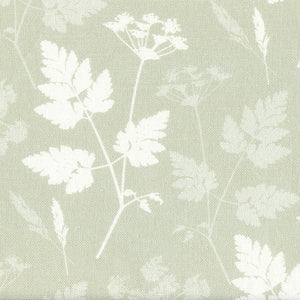 Cow Parsley Linen Fabric - Soft Moss
