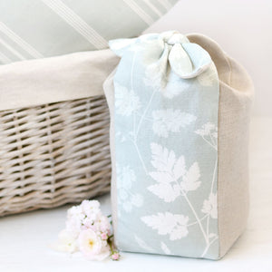 Cow Parsley Lavender Scented Tie Top Doorstop - River Mist - Meg Morton