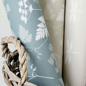 Cow Parsley Wallpaper- Teal - Meg Morton
