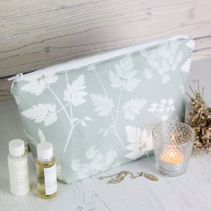 Cow Parsley Wash Bag - River Mist - Meg Morton