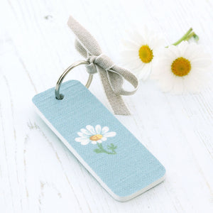 Meadow Daisy Keyring- Summer Sky - Meg Morton