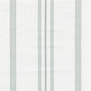 Devon Stripe Linen Fabric - River Mist On White - Meg Morton