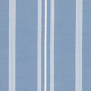 Devon Stripe Linen Fabric - Country Blue