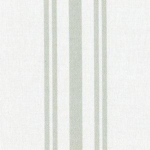 Dorset Striped Linen Fabric - Soft Moss On White - Meg Morton