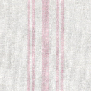 Dorset Striped Linen Fabric - Vintage Pink On Mist - Meg Morton