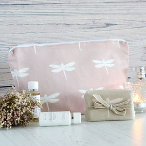 Dragonfly Wash Bag - Vintage Pink