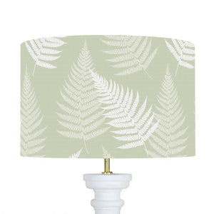 Thorncombe Fern Lampshade - Soft Moss