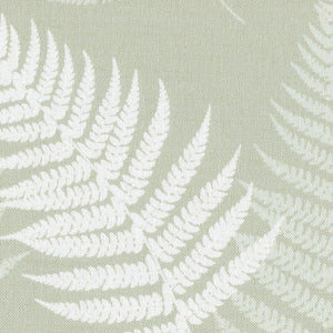 Large Thorncombe Fern Fabric - Soft Moss - Meg Morton