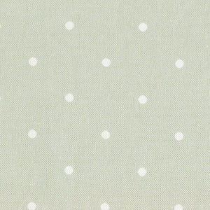 Country Dots Fabric - White On Soft Moss - Meg Morton