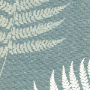 Large Thorncombe Fern Fabric - Soft Teal - Meg Morton
