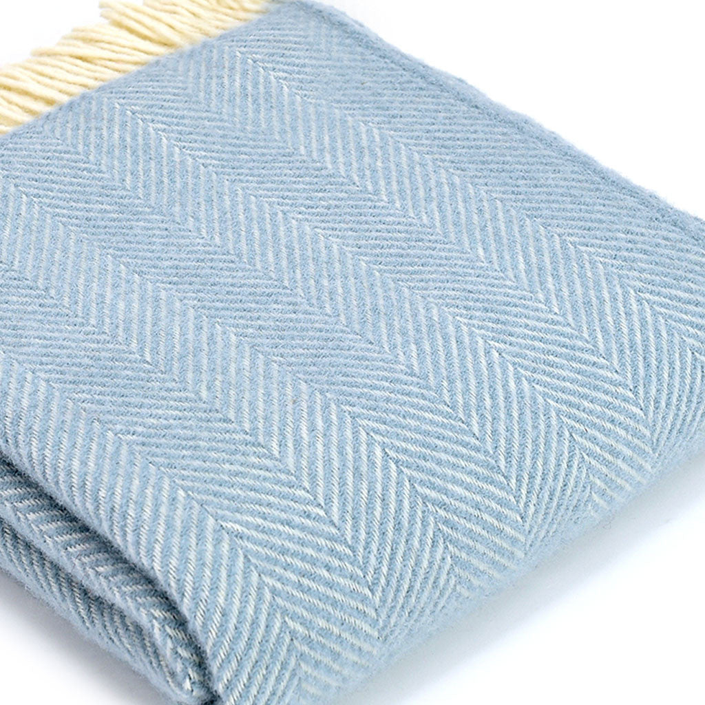 Duckegg Herringbone Wool Throw - Meg Morton
