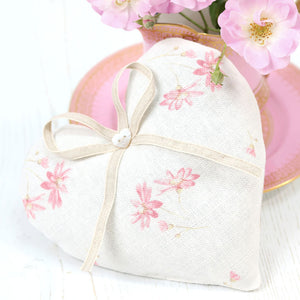 French Daisy Lavender Heart - Limoges Pink - Meg Morton
