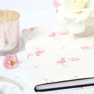 French Daisy Fabric Covered Notebook - Limoges Pink