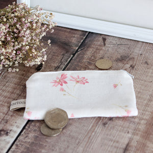 Fabric Purse - French Daisy Limoges Pink - Meg Morton