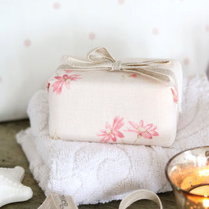 Fabric-covered French Soap - French Daisy Limoges Pink - Meg Morton