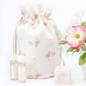 French Daisy Vintage Style Toiletry Bag - Limoges Pink