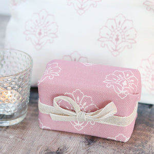 Fabric-covered French Soap - Jhansi Wild Rose - Meg Morton