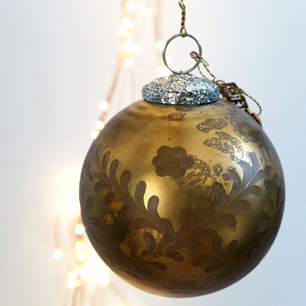 Danish Vintage Style Gold Bauble - Meg Morton