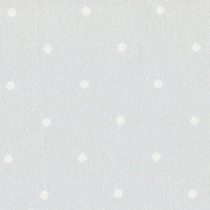 Country Dots Fabric - White On Pale Grey - Meg Morton