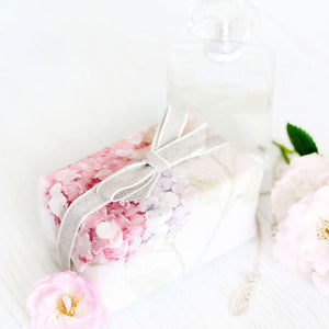 Fabric Covered French Soap - Hydrangea Pastel Pink - Meg Morton