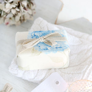 Fabric-covered French Soap - Hydrangea Paris Blue