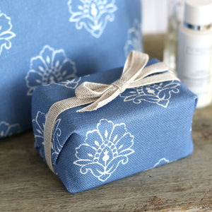 Fabric-covered French Soap - Jhansi Indian Blue - Meg Morton