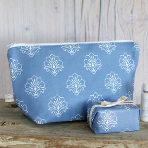 Jhansi Wash Bag - Indian Blue - Meg Morton