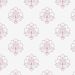 NEW Jhansi Wallpaper - Wild Rose On White