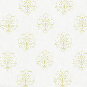 Jhansi Fabric - Linden On White - Meg Morton