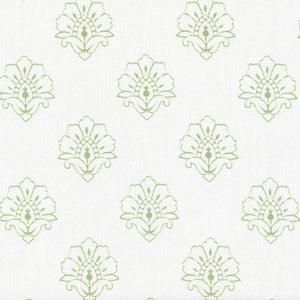 Jhansi Fabric - Orchard Green On White - Meg Morton