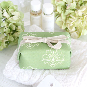 Fabric-covered French Soap - Jhansi Orchard Green
