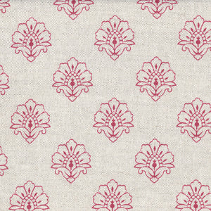 Jhansi Fabric - Red Maple On Stone