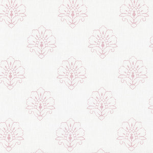 Jhansi Fabric - Wild Rose On White - Meg Morton
