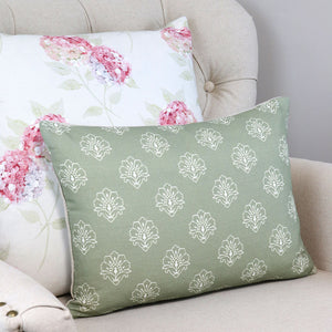Jhansi Woodland Sage Rectangular Cushion - Meg Morton