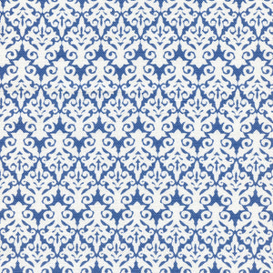 Leilani Linen Fabric - Indian Blue